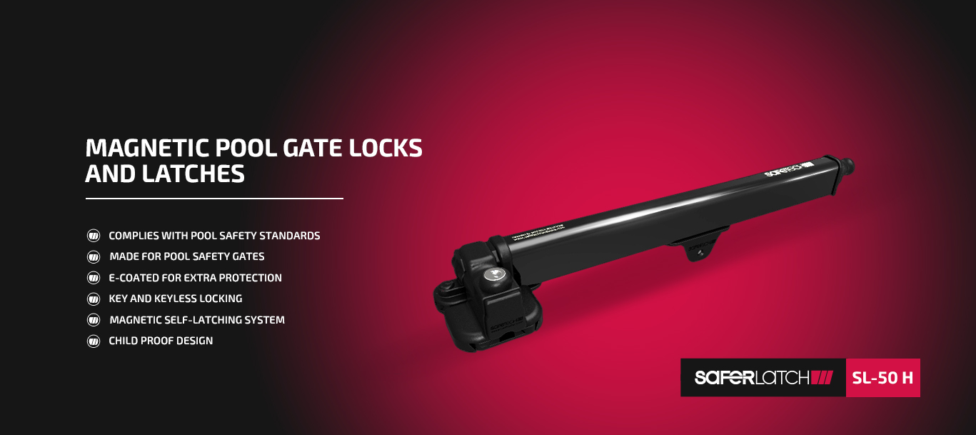 Magnetic Pool Gate Lock and Latches