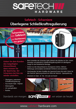 Safetech Product Installation Guide in German